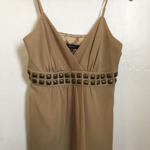 Express Beige/ Tan Baby Doll Top Small